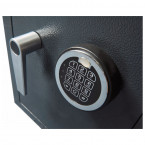 Close up view of the electronic lock