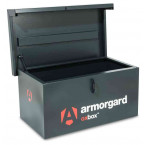 The small Armorgard Oxbox OX5 Security Van Tool Box 810mm wide - open