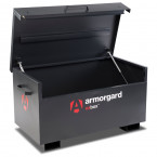 Armorgard Oxbox OX3 with lid fully open and supported by the 2 gas struts