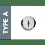 Probe Type A Mastered Key Lock with 2 keys