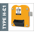 Probe Locker Type H-£1 Coin Operated Lock for new £1 coins