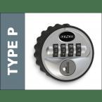 Probe Type P 4 wheel Combination Lock