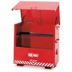 Van Vault Fire-Store Flammable Liquids Large Site Secure Storage Chest - open