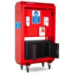 Armorgard Sanistation S40 Mobile Hand Sanitiser Station - optional Storage open