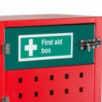 Mobile Fire Incident Cabinet - Armorgard Safety Kart - first aid box