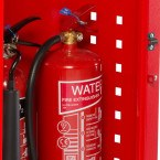 Fire Mobile Incident Cabinet - Armorgard Safety Kart - fire extinguisher