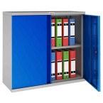 Phoenix SCL0891GBK 2 Door Blue Key Locking Steel Storage Cupboard open