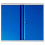 Phoenix SCL0891GBK 2 Door Blue Key Locking Steel Storage Cupboard front view