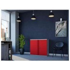 Phoenix SCL0891GRE 2 Door Red Electronic Steel Storage Cupboard in use