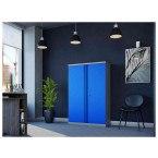 Phoenix SCL1491GBK 2 Door Blue Steel Storage Cupboard | in use