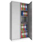 Phoenix SCL1891GGK 2 Door Grey Steel Cupboard | Key Locking | Open