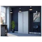 Phoenix SCL1891GGK 2 Door Grey Steel Cupboard in use