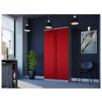 Phoenix SCL1891GRE 2 Door Red/Grey Steel Storage Cupboard | Electronic in use