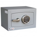Digital Electronic Security Safe - Securikey Mini Vault Silver 0E - door closed