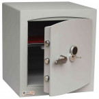 Securikey SFMV-3FRK-G-S2 Mini Vault Gold Key Locking Security Safe - door ajar