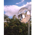 Outdoor Convex Mirror 450mm - Securikey Econovex Post Fitted