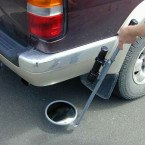 Securikey Portable Convex Inspection 23cm Under Vehicle Mirror with torch mount