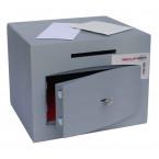 Securikey Mini Vault Silver 1 Deposit Safe Key Lock door ajar