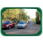 Vialux 524 Convex Observation Mirror Polymir 600x400mm wioth green frame