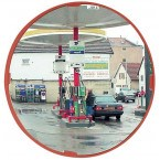 Vialux 514 Multi-Use Convex Mirror Polymir 400mm in a Petrol Station to improve security