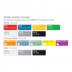 Probe Colour Chart for lockers