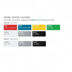 Probe Modular Quarto Locker Colour Options