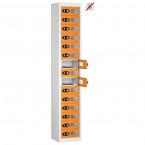 Probe TABBOX 15 Vision Door Tablet Storage Locker in orange