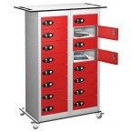 Probe TABBOX 16 Door Charging Storage Trolley in red