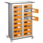 Probe TABBOX 16 Vision Door Charging Storage Locker in Orange