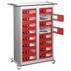 Probe TABBOX 16 Vision Door Charging Storage Locker in Red