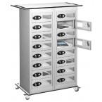 Probe TABBOX 16 Vision Door Charging Storage Locker in White