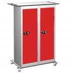 Probe TABBOX 16 Shelf Tablet Mobile Storage Trolley in Red