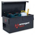 Armorgard Tuffbank Security Van Box TB1 - 920mm wide - in use