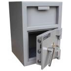 Burton Teller V-Trap Drawer Deposit Safe Size 1 Key Lock - door open