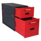 Armorgard Trekdror TKD1 Van Security Tool Storage Lockable Drawer  - stacked onto a TKD3