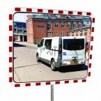 Dancop TM-PC-60x80 Convex Polycarbonate Traffic Convex Mirror - Front View for road junctions