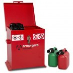Armorgard Transbank TRB2 Portable Flammable Storage Chest - open with cans