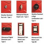 Ultrabox Weather Resistant Plastic Locker Lock Options
