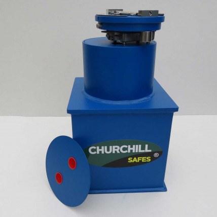 Churchill Bronze Round Door Floor Safes