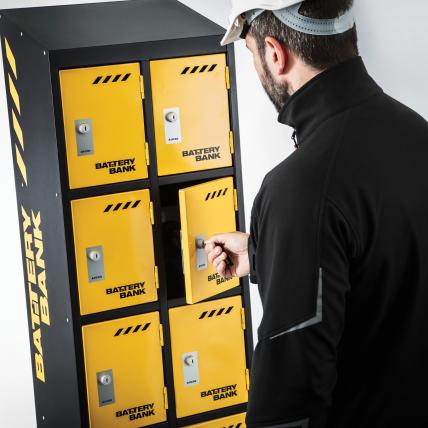 Power Tool Battery Charging Lockers