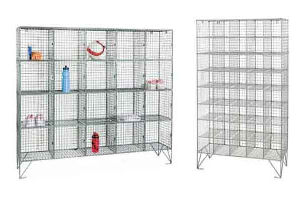 Multi Compartment Wire Mesh Lockers